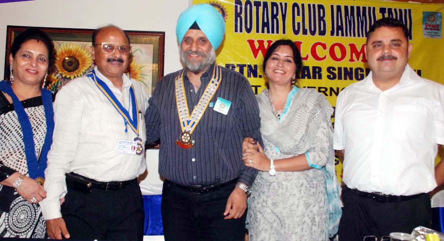 pradeep jain installed as president rotary club jammu tawi pradeep jain posing for a photograph after his installation as president rotary club jammu excelsior rakesh