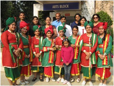 team heritage school won bharat vikas parishad national group song competition