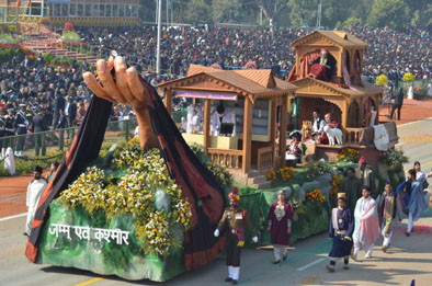 JampK Tableau During Republic Day Parade At New Delhi