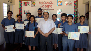 The students of SOS Hermann Gmeiner School, Jammu who participated