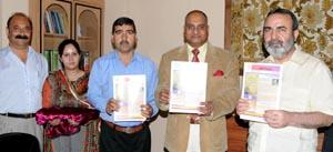 Khandey releases J&K  Prisons News Letter