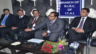 Dignitaries during a seminar at Jammu Club on Monday.