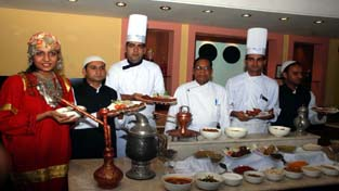 Specialiteis being displayed on eve of Kashmiri food festival at hotel Fortune Inn Riviera on Thursday. -Excelsior/Rakesh
