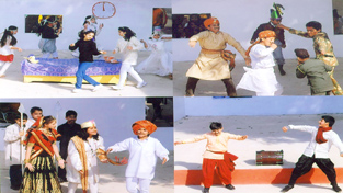 Students of KC Public School in action during Inter-House One-Act Fest 2014 in Jammu.