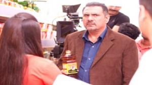 Boman Irani during shoot.