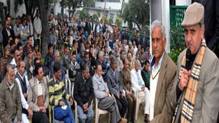 Deputy Chief Minister Tara Chand addressing a gathering at Jammu on Sunday.