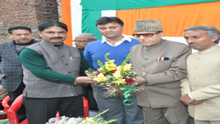 PCC chief Prof Saif-ud-Din Soz at a function in Jammu on Sunday.