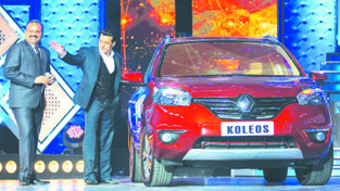 Bollywood Actor Salman Khan unveiling new Renault Koleos.