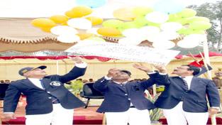 K Rajendra Kumar inaugurating Youth Promotional Coaching Camp in Jammu on Saturday.