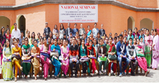 Students, staff and the dignitaries posing for a photograph during National Seminar at KCS College of Education.