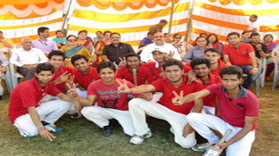 Winners posing for a group photograph during the concluding ceremony of Abhishek Memorial Annual Sports Meet.