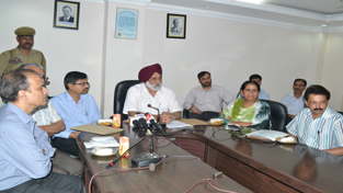 JU VC Prof MPS Ishar addressing a press conference on Wednesday.