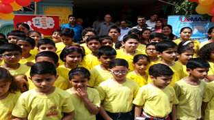 Students during the opening ceremony of UCMAS Centre at Subash Nagar in Jammu.