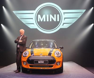 Philipp Von Sahr launching new Mini Cooper Model.