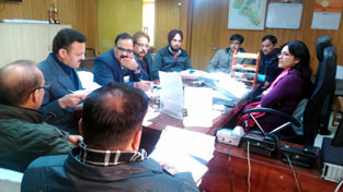 VC JDA Sushma Chauhan chairing a meeting on Saturday.