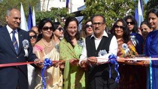 Deputy Chief Minister, Nirmal Kumar Singh inaugurating Police Mela at Gulshan Ground in Jammu on Sunday.