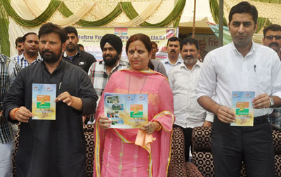 Minister for Health, Ch Lal Singh while launching Punarjagran scheme at GHSS Hatli on Saturday.