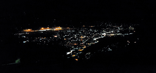 A night view of Katra town taken from Mata Vaishno Devi shrine. -Excelsior/Mengi