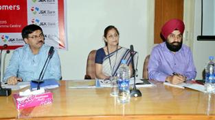 Dignitaries during workshop organised by J&K Bank.