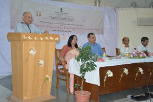 VC SMVDU delivering inaugural address at orientation programme on Tuesday.