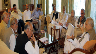 Chief Minister Mufti Mohd Sayeed chairing 19th meeting of BoD of Wakaf Board on Friday.