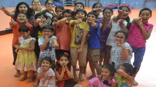 Children during workshop organized by Natrang.