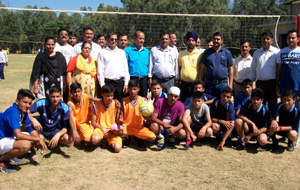 Winners posing along with dignitaries during 2-day competitions under RGKA organized at Udhampur.
