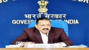 Union Minister Dr Jitendra Singh speaking to media persons at New Delhi.
