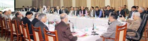 Chief Minister, Mufti Mohd Sayeed chairing a meeting of State Wakf Council on Friday.