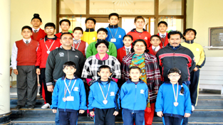 The Students of KC International School, who won 10 gold, 7 silver and 10 bronze medals in recently concluded 3rd National Hapkido Championship at Indoor Sports Complex, MA Stadium, Jammu. The Championship was organized by J&K Hapkido Association under the aegis of Hapkido Federation of India. Principal, Maya Mishra lauded the efforts of the students and coaches for their outstanding performance.