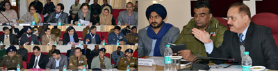 Divisional Commissioner, Dr Pawan Kotwal reviewing R-Day celebration arrangements in a meeting at Jammu on Thursday.