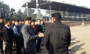 GM Northern Railway, A K Puthia inspecting proposed site for DRM office at Jammu on Saturday.