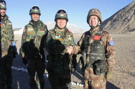 India and China military officials meet in Eastern Ladakh before joint exercises.