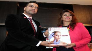 Mohit Narang, Director, Medispa Group and Shivani Gupta, owner of Shalz Medispa, during the launch of 'Medispa Management System' on Saturday. — Excelsior/Rakesh