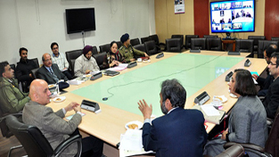 Advisor to Governor, Parvez Dewan reviewing preparation for upcoming examinations in a meeting at Jammu on Wednesday.