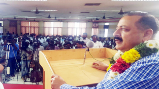 Union Minister Dr Jitendra Singh addressing a public function at Madurai, Tamil Nadu on Monday.