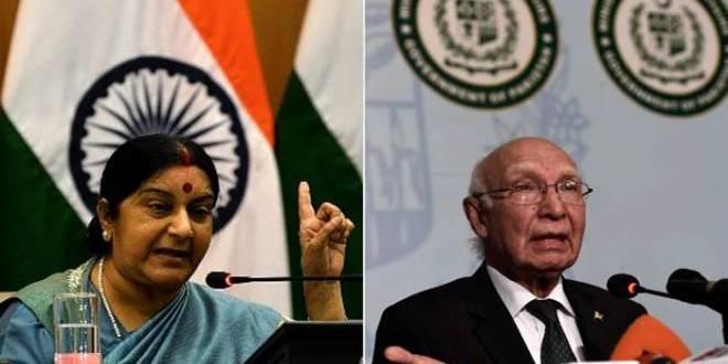 Swaraj-Aziz to meet in Nepal;Pak to extend SAARC invite to PM
