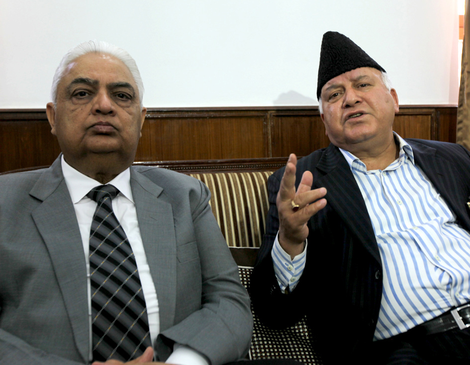 SAC chairperson Justice B A Khan and Member Justice J P Singh addressing press conference on Wednesday. —Excelsior/Rakesh