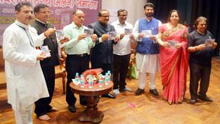BJP Legislature Party leader Dr Nirmal Singh during a function at New Delhi.