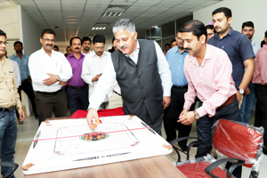 Prof. Ashok Aima, Vice Chancellor, CUJ inaugurating Annual Sports Meet on Thursday.