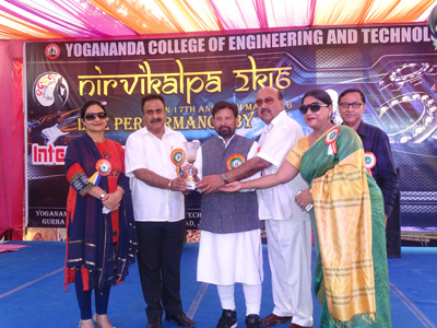 Forest Minister Choudhary Lal Singh and others during Tech Forest 'Nirvikalpa-2K16' at YCET.