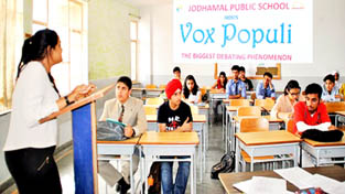 Participants during Vox Populi at Jodhamal Public School.