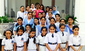 Bollywood actor Vivek Oberoi during launch of Lawrence School Girl Child Scholarship programme.