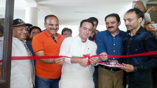 MoS for Transport, Sunil Kumar Sharma inaugurating ARTO office at Kishtwar.