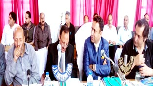 Minister for Consumer Affairs and Public Distribution Choudhary Zulfkar Ali chairing DDB meeting on Tuesday.
