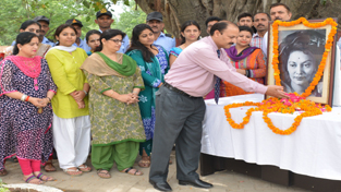 Floral tributes being paid to Yasho Rajyalakshmi on her 7th death anniversary on Tuesday.