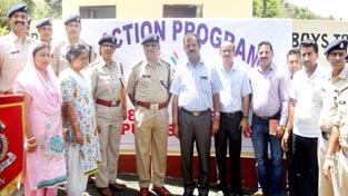 Officers of CRPF and School Education Department at a function in connection with Civic Action Programme by CRPF.