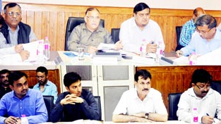 Chief Secretary reviewing BADP implementation in a meeting held on Tuesday.