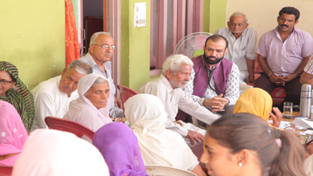 HoD Cardiology Dr Sushil Sharma examining patients at Bathera on Sunday.