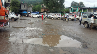 A view of Bus Stand Mendhar.